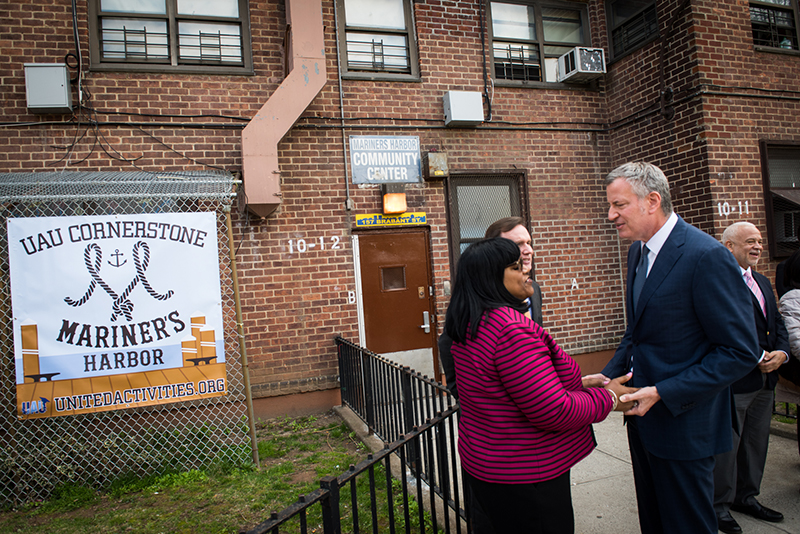Mayor Bill de Blasio, Council Member Rose Announce $5.7 Million Community Center Renovation on State
