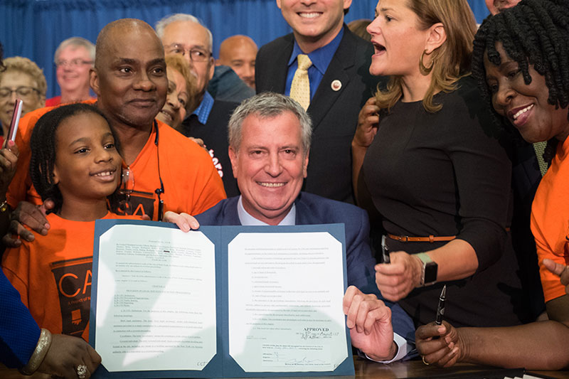 Signs Legislation to Provide Low-Income New Yorkers with Access to Counsel for Wrongful Evictions