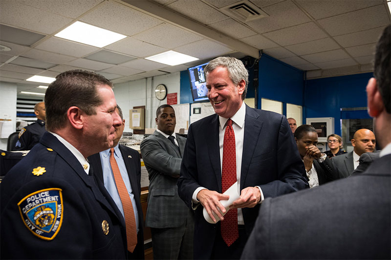 Mayor de Blasio, Commissioner O'Neill Host Press Conference To Discuss Crime Statistics