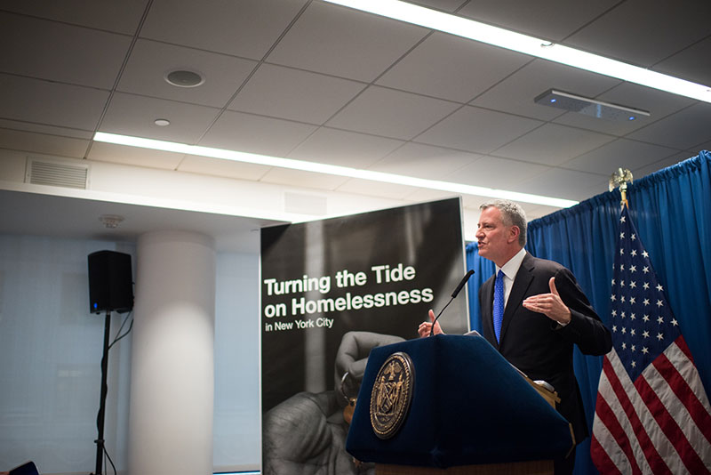 De Blasio Administration Announces Plan to Turn the Tide on Homelessness with Borough-Based Approach