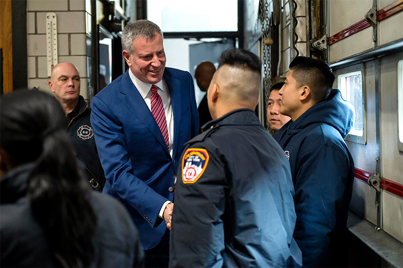 Mayor de Blasio and Fire Commissioner Nigro Announce Fewest Fire Deaths Ever Recorded in 2016