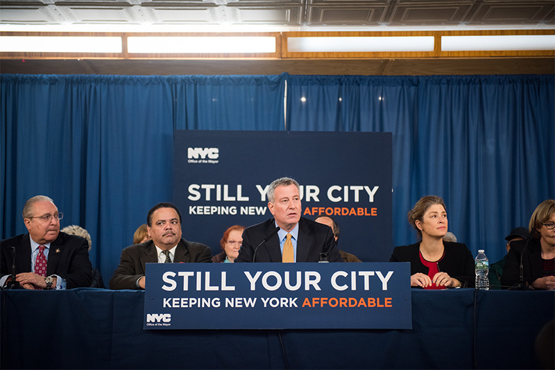 Mayor de Blasio Announces Major Progress Helping New Yorkers Afford Their Homes and Neighborhoods