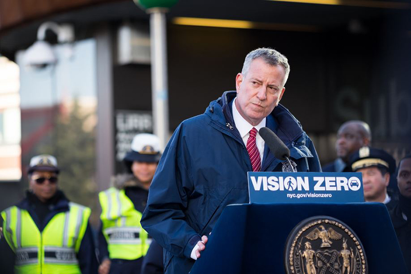 Vision Zero: Mayor de Blasio Proposed Budget Invests in More Crossing Guards and Street Safety Redes