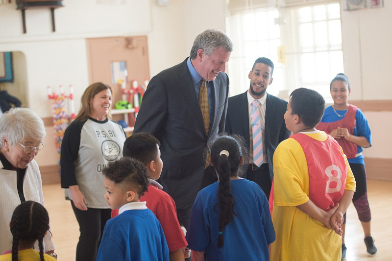 Mayor de Blasio, Speaker Mark-Viverito, Chancellor Fariña Announce Universal Physical Education Init
