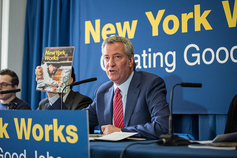 100,000 Good-Paying Jobs: Mayor de Blasio Releases 10-Year Plan