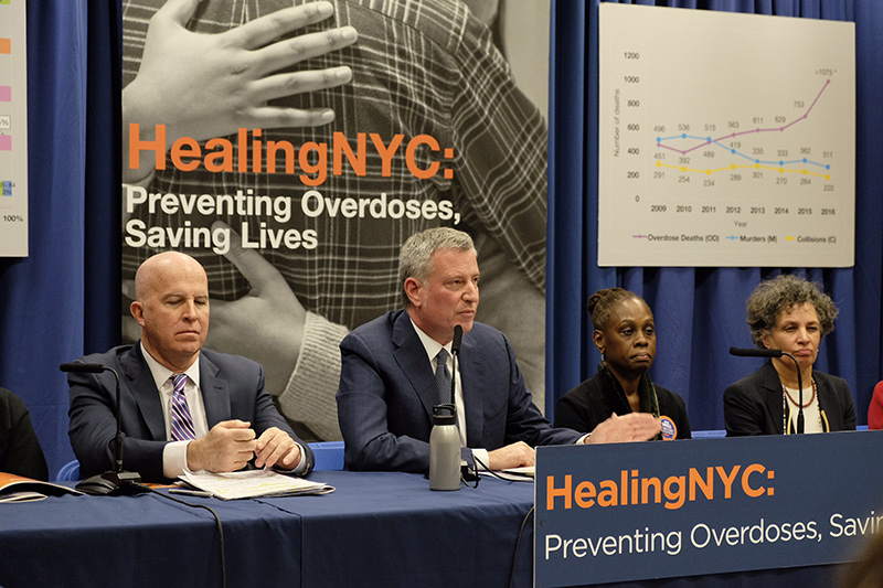 De Blasio Administration Launches New Initiative to Combat Opioid Epidemic
