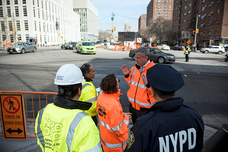 Vision Zero: Mayor de Blasio Kicks Off Construction on Major Street Redesigns as Warm Weather Begins