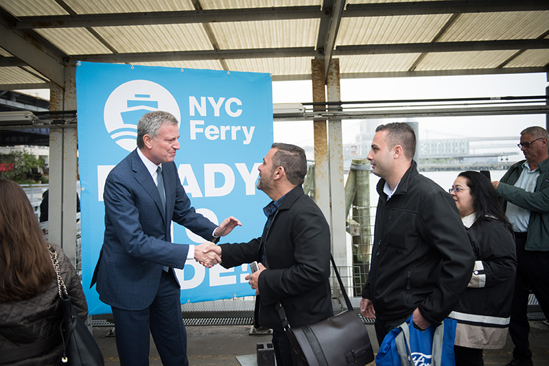 All Aboard: Mayor de Blasio Launches NYC Ferry | City of New