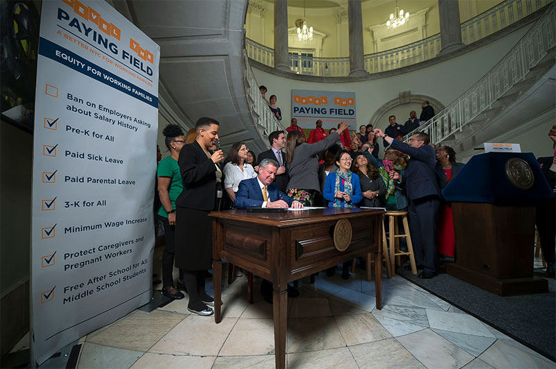 Mayor de Blasio Signs Bill Prohibiting All NYC Employers From Inquiring About Salary History