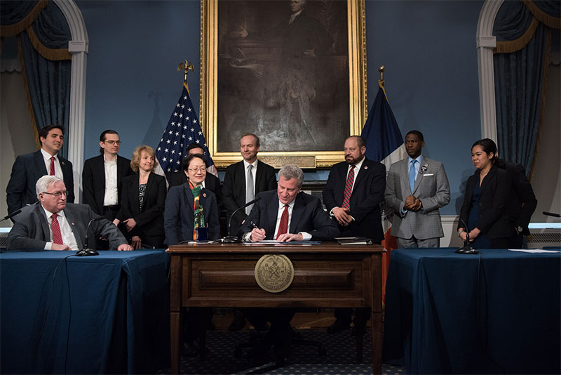 Mayor de Blasio Signs Legislation to Better Promote Transparency, Equity and Safety