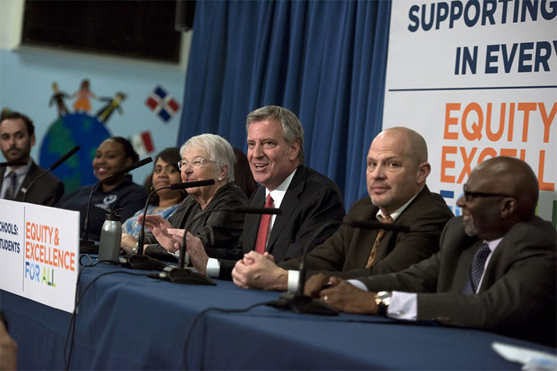Mayor de Blasio, Chancellor Fariña and Deputy Mayor Buery Announce 69 New Community Schools