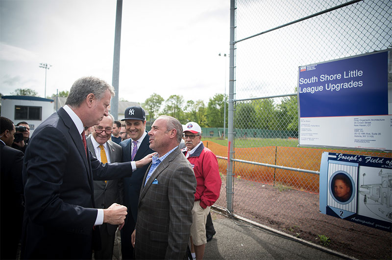 Mayor de Balsio Announces 'Grand Slam' for South Shore Little League