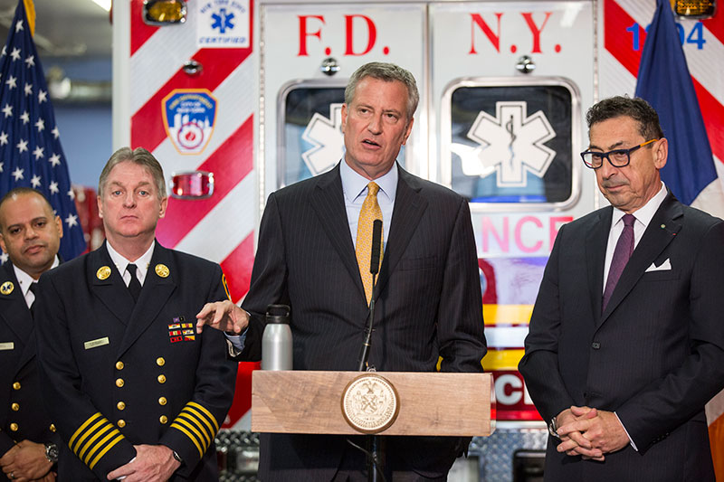 Mayor de Blasio Announces $30 Million Investment in Bronx FDNY EMS Operations