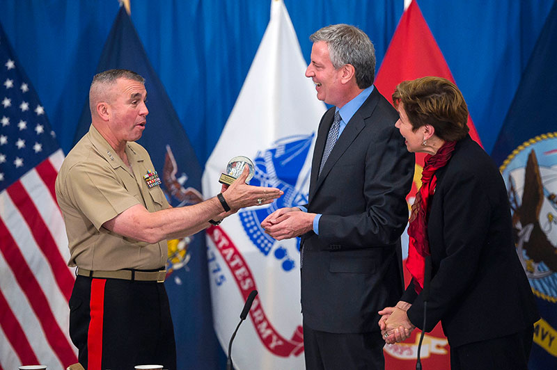 Mayor de Blasio Marks Fleet Week with Announcement of NYC Veterans Mentoring Initiative