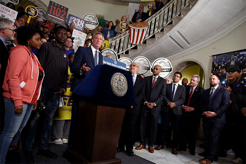 Mayor de Blasio Announces That NYC is the Largest City to End Abusive Scheduling Practices