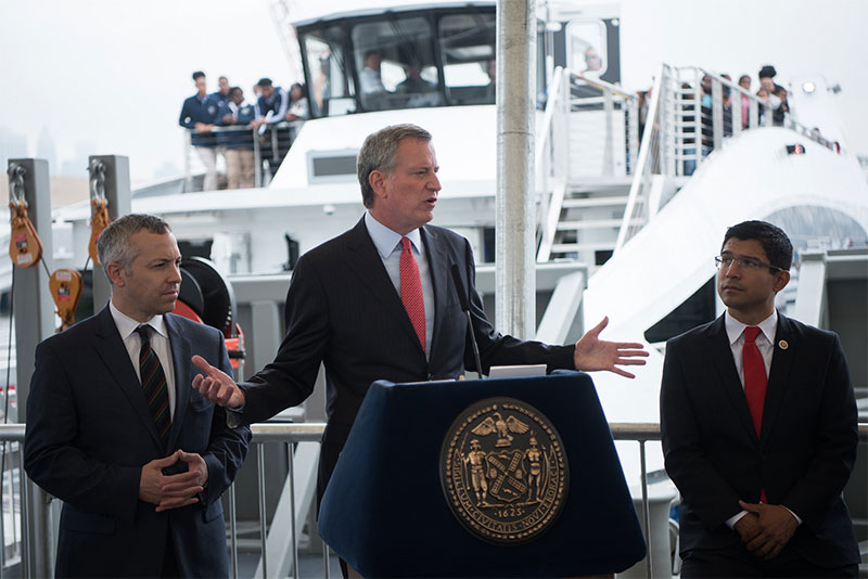 Mayor de Blasio Celebrates Launch of NYC Ferry Service to Red Hook and Bay Ridge Set for Tomorrow