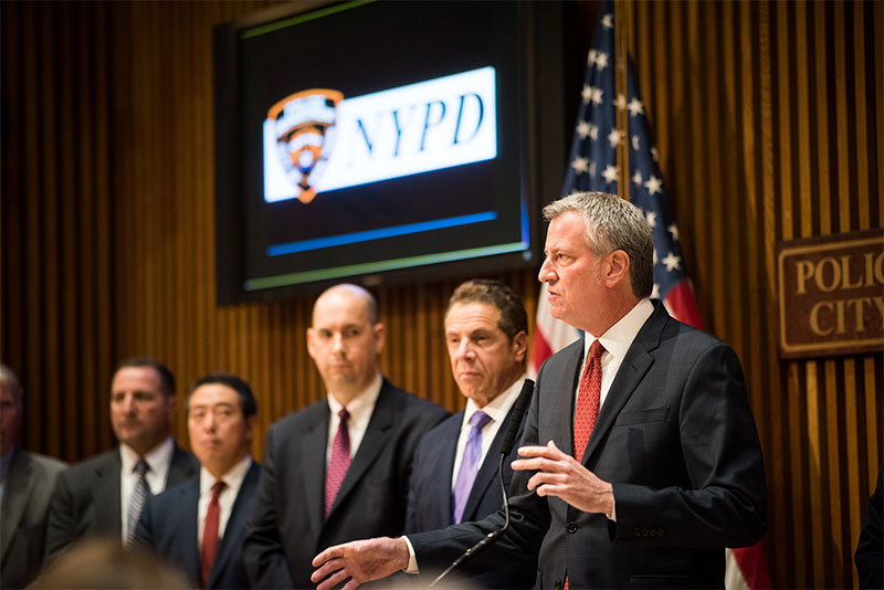 Mayor de Blasio, Commissioner O'Neill, Commissioner Nigro and Governor Cuomo Hold Media Availability