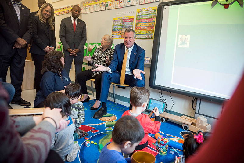 Mayor de Blasio and Schools Chancellor Fariña Announce Expansion of 3-K for All