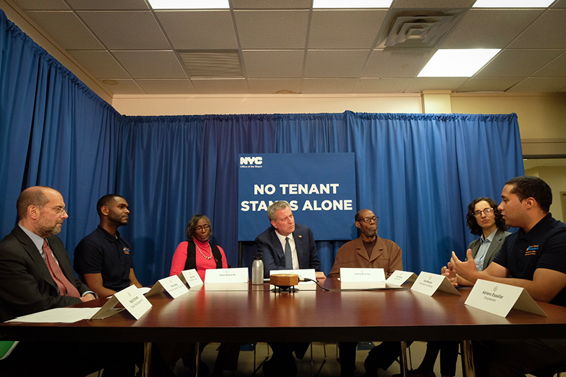 Mayor de Blasio Announces $1M Funding Boost for Door-To-Door Outreach