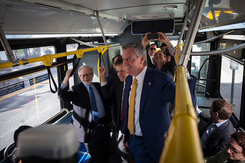 Mayor de Blasio Announces Plans to Expand Select Bus Service to 500,000 More Bus Riders
