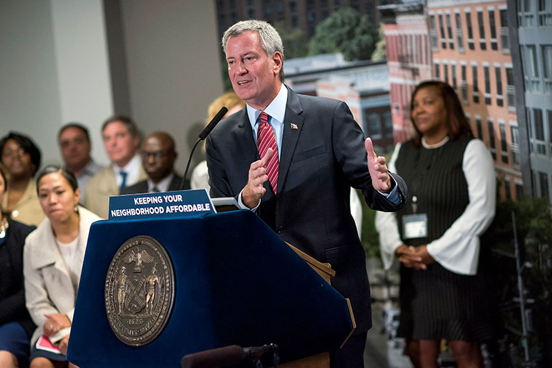 Mayor de Blasio to Complete Affordable Housing Plan 2 Years Ahead of Schedule