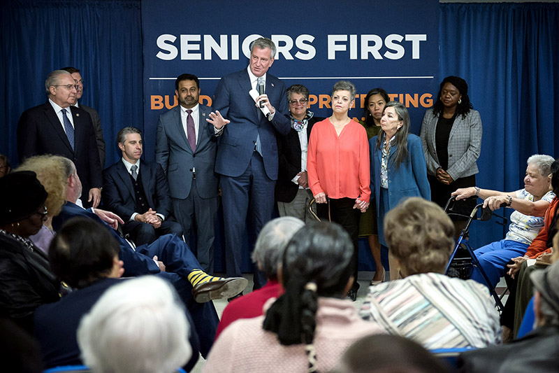 Mayor de Blasio Doubles Planned Senior Housing to 30,000 Affordable Homes