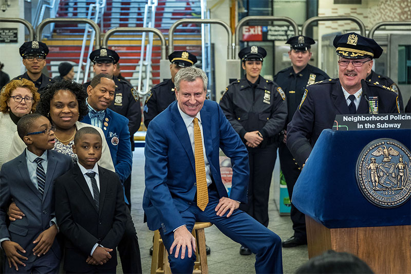 Transcript: Mayor de Blasio Announces Expansion of Neighborhood Policing to NYC Subways