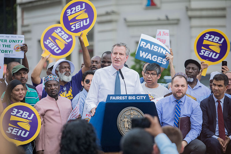 Mayor de Blasio, City Council, Advocates Celebrate Passage of For-Hire Vehicles Legislation
