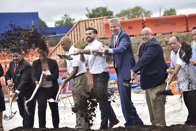Mayor, Chancellor, Council Member And Borough President Break Ground On New School In East New York