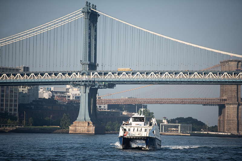 Mayor de Blasio Launches Lower East Side Ferry Route,