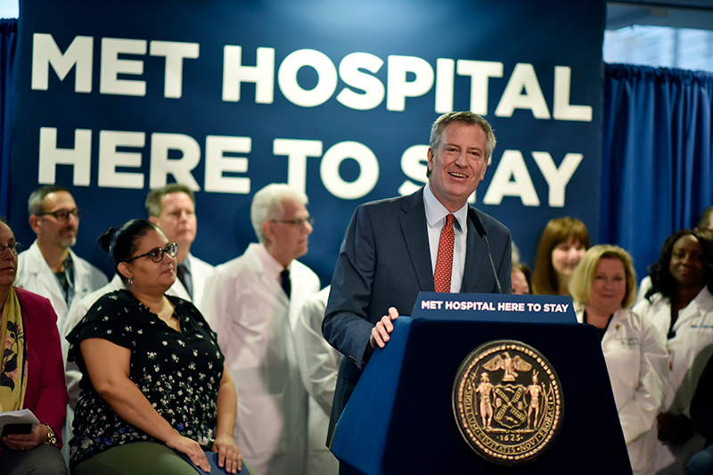 De Blasio Announces $52 Million Planned Capital Investment for NYC Health + Hospitals/Metropolitan