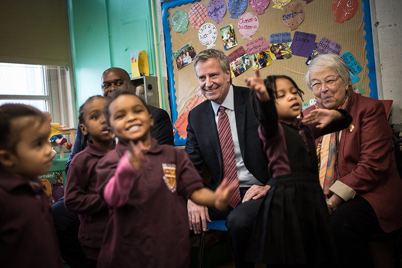 Mayor de Blasio Speeds up 3-K For All Rollout and Announces 4 New Districts
