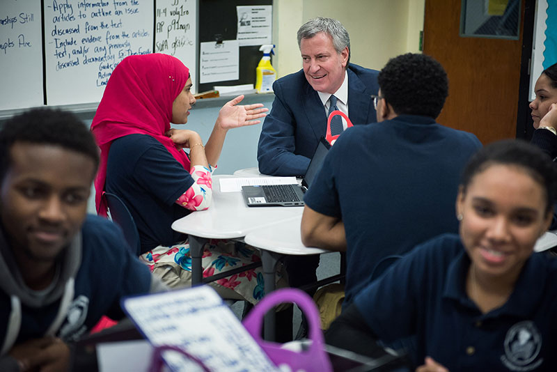 Mayor de Blasio Announces Record High Graduation Rate