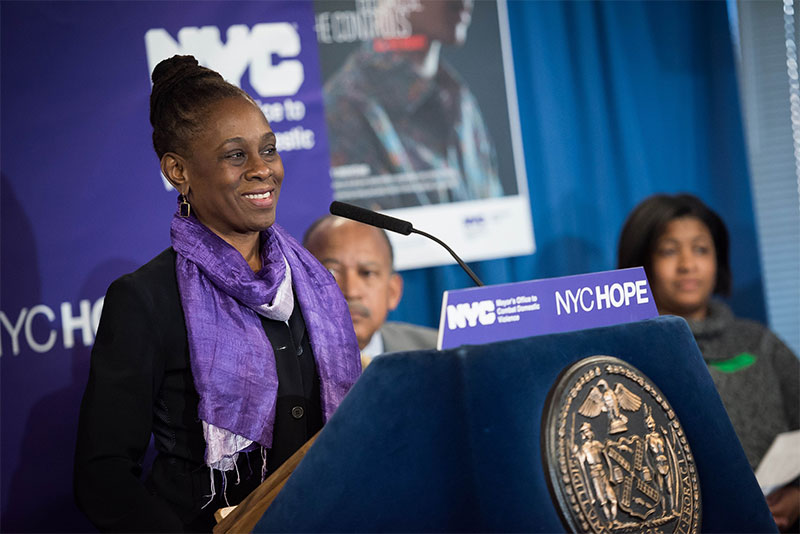 First Lady Chirlane McCray Announces NYCHOPE, New Web Portal for Survivors of Domestic Violence