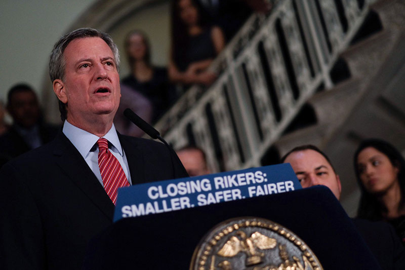 Mayor de Blasio and City Council Reach Agreement to Replace Rikers Island Jails