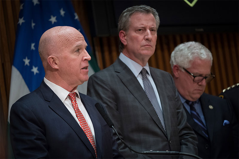 Mayor de Blasio and Police Commissioner O'Neill Hold Media Availability