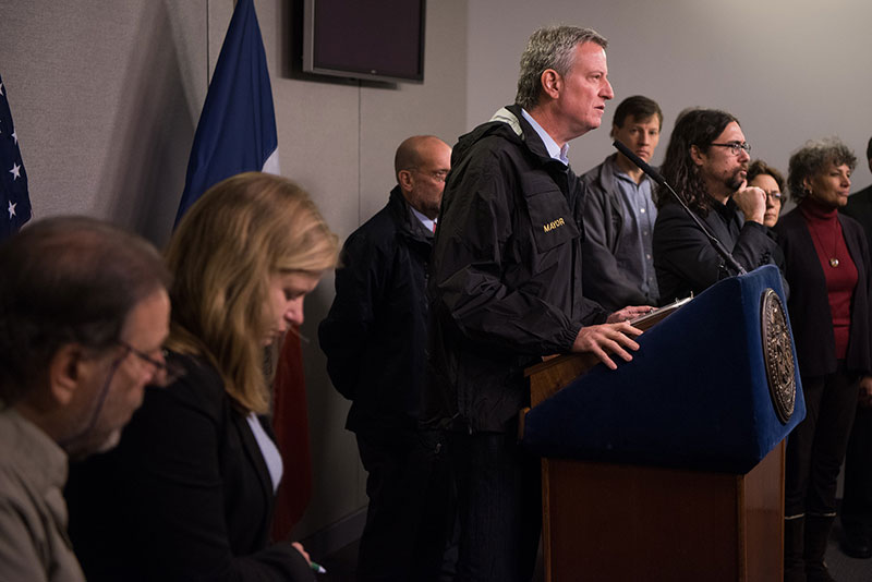 Mayor de Blasio Hosted Press Conference to Discuss Winter Weather and the City's Response