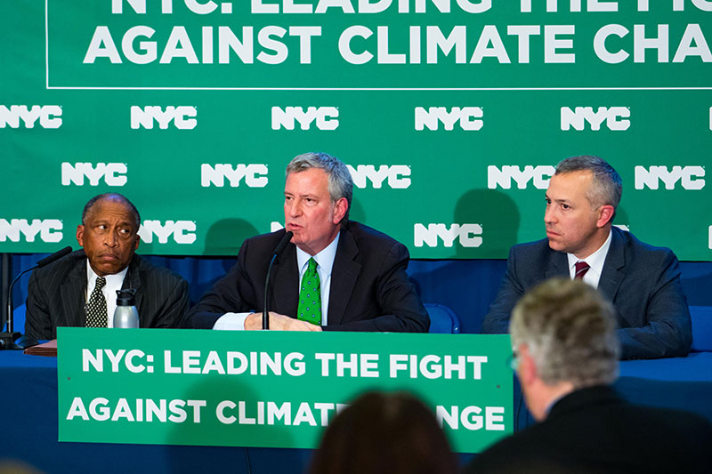 Mayor, Comptroller, Trustees Announce First-In-The-Nation Goal to Divest From Fossil Fuels