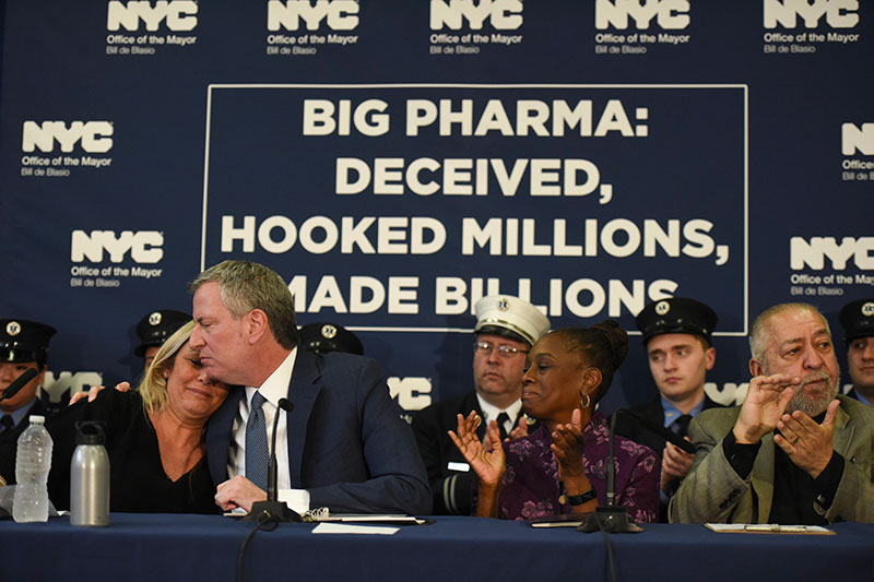Mayor de Blasio Announces Lawsuit Against Nation's Largest Opioid Manufacturers and Distributors