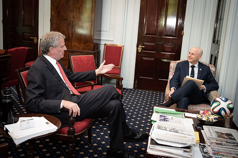 Mayor de Blasio Meeting With New York City Transit President Andy Byford