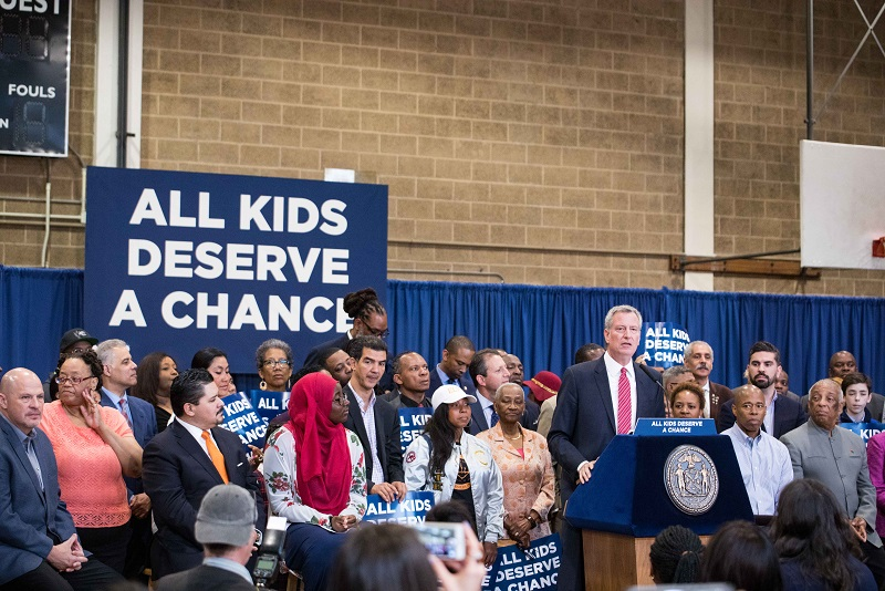 Mayor de Blasio and Chancellor Carranza Announce Plan to Improve Diversity at Specialized High Schoo