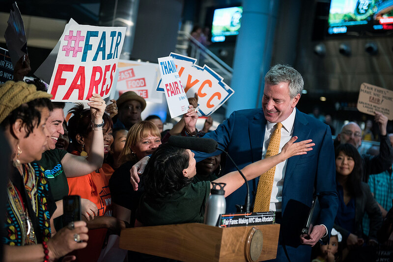 Mayor de Blasio Delivers Remarks at Rally Celebrating Fair Fares Funding