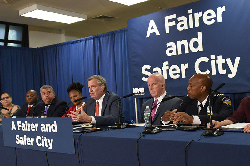 Mayor de Blasio, Commissioner O'Neill Unveil New Policy to Reduce Unnecessary Marijuana Arrests