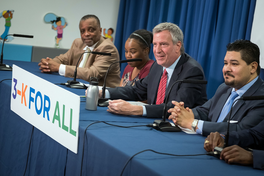 Mayor de Blasio and Chancellor Carranza Announce Four Times More Children Receiving 3-K for All Offe