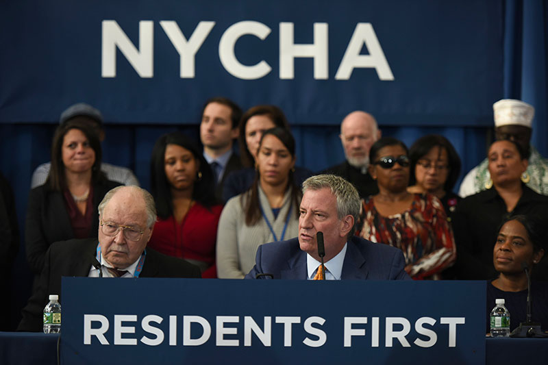 Mayor de Blasio Announces 62,000 NYCHA Apartments To Receive Comprehensive Repairs