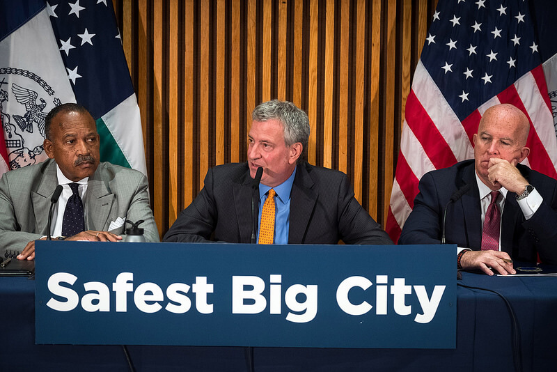 Mayor de Blasio, Commissioner O'Neill Hold Media Availability on Crime Statistics