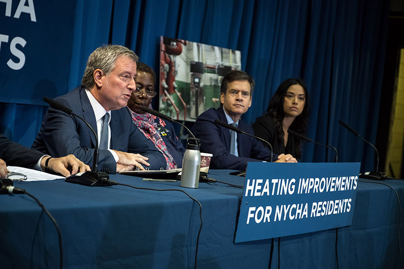 De Blasio Administration Announces Heating Improvements for NYCHA Residents in Advance of Winter