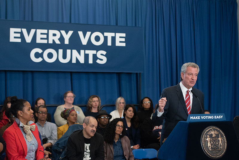 Mayor de Blasio to Board of Elections: Get Early Voting Right