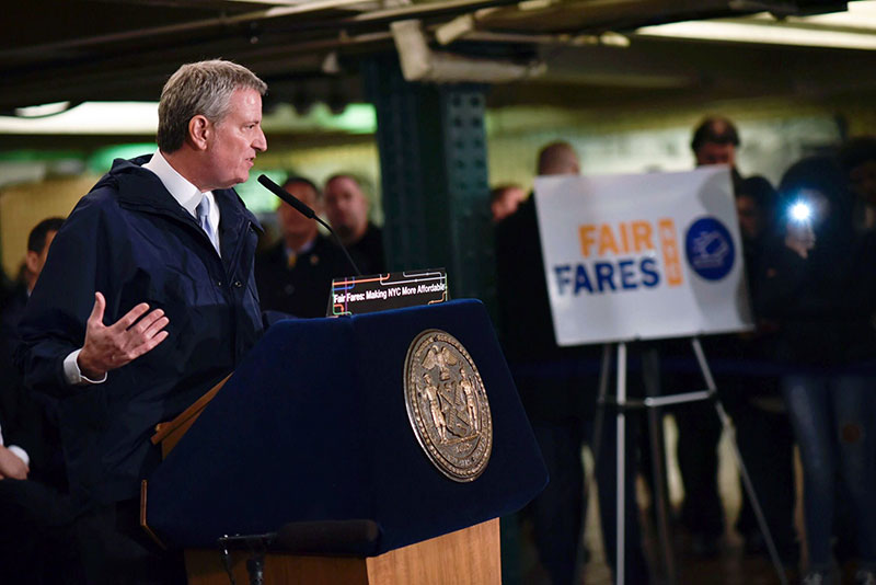 Mayor de Blasio and Speaker Johnson Launch Fair Fares Program for Low-Income New Yorkers