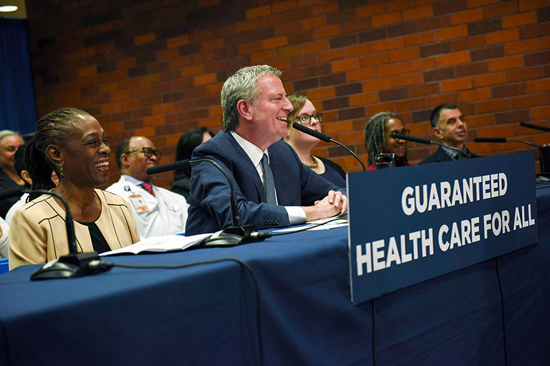 Mayor de Blasio Announces Plan to Guarantee Health Care for all New Yorkers